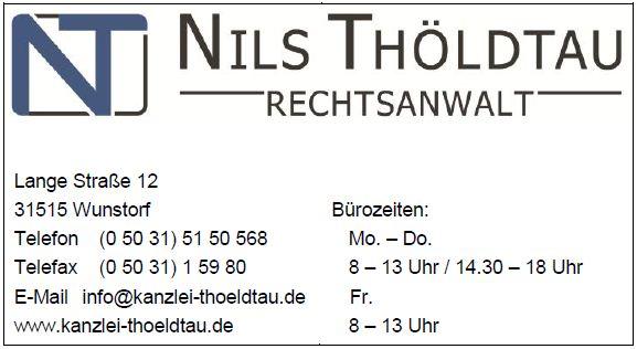 Visitenkarte Kanzlei Thoeldtau Wunstorf